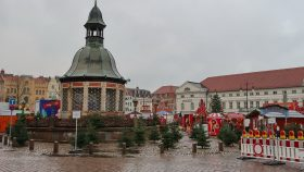 Julemarkedet på torvet i Wismar