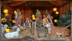 Julekrybbe på torvet i Schwerin